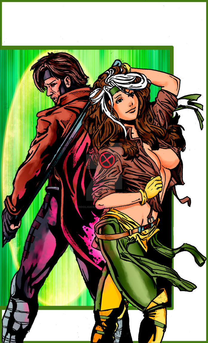 Gambit and Rouge Poster version 4 (white/green) by ...