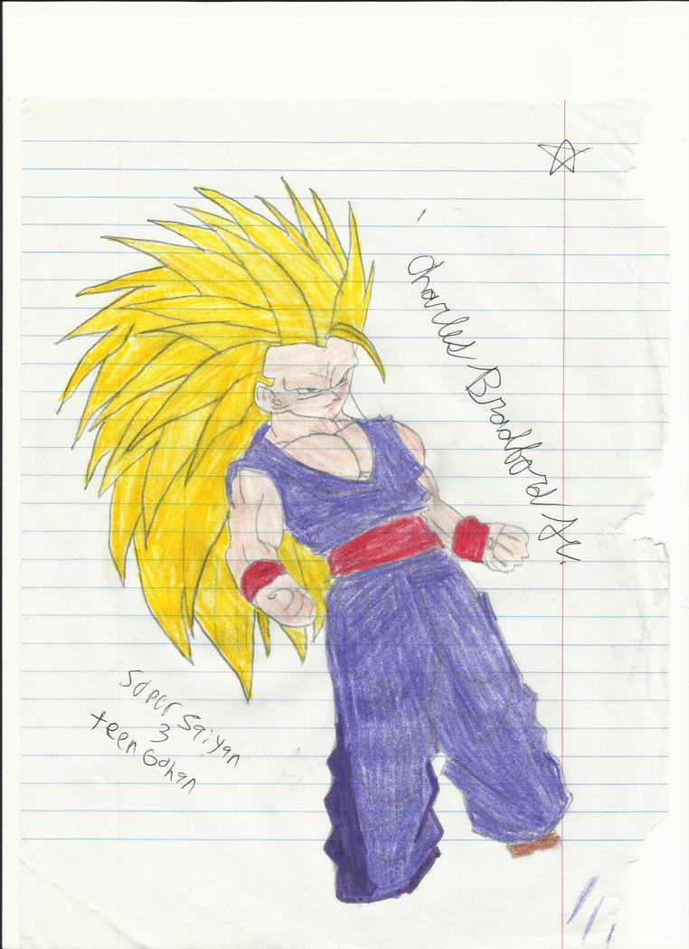 Super Saiyan 3 Teen Gohan by Charliebug