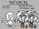 Fruit Gore YCH (closed)