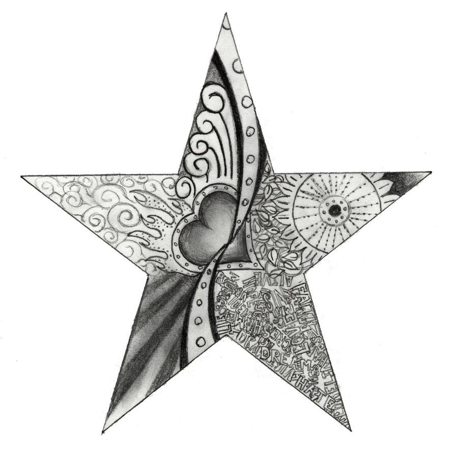 star tattoo design by pipenagos on deviantart. Black Bedroom Furniture Sets. Home Design Ideas