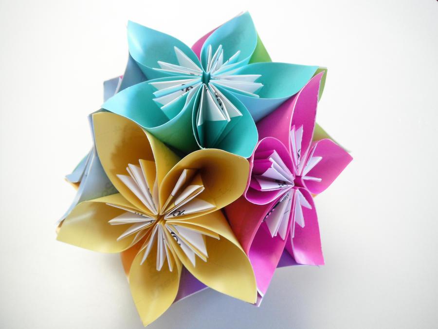 Origami Kusudama origami kusudama by db31415Origami Kusudama