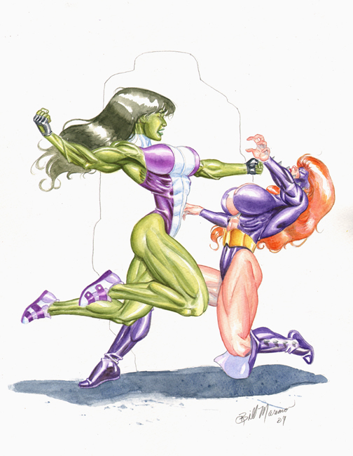 She Hulk Vs Titania by TheRaytrix