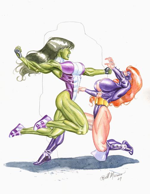 She Hulk Vs Titania by TheRaytrix