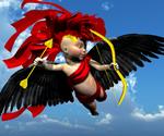 Red-Satin Cupid