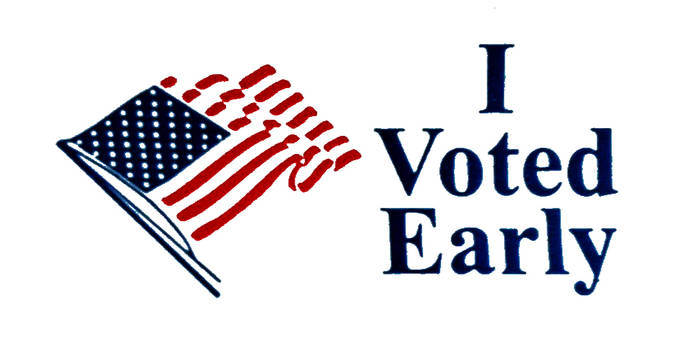 I Voted Early - Inkstamp Effect