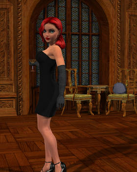 Girl6 in an Affable Ballroom