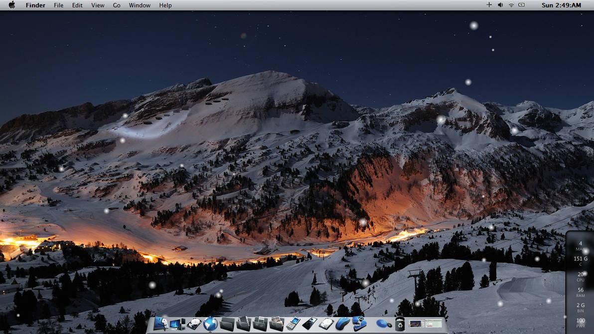 Winter Mac Theme on W7 by maxxdout