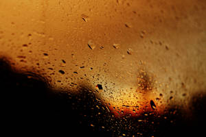 Water drops on the train window