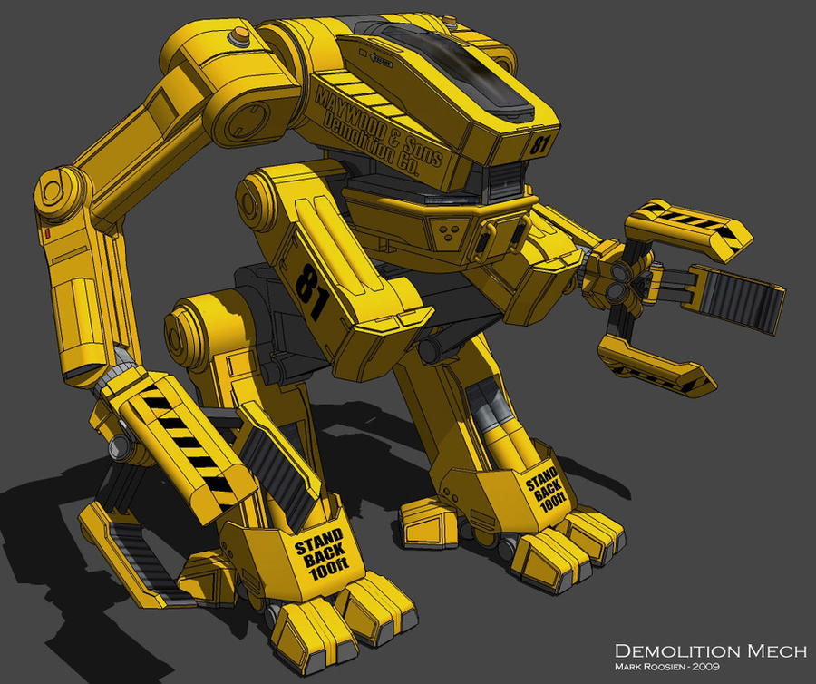 Demolition Mech by Marrekie