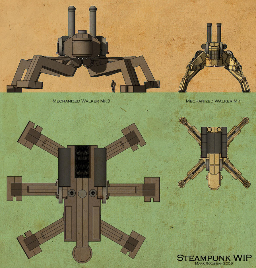 Quick Concept Steamwalker by Marrekie