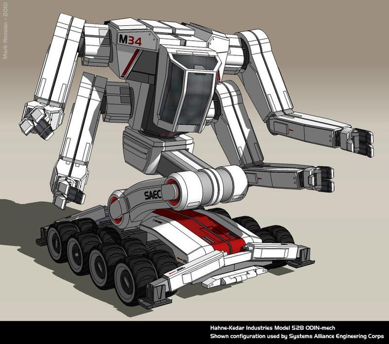 Mass Effect: ODIN-mech by Marrekie