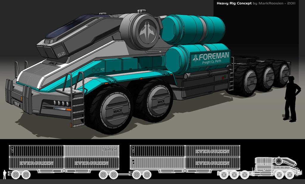 Mack Titan IX roadtrain by Marrekie