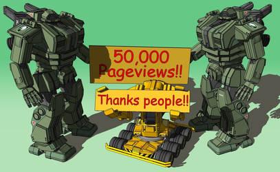 YEAH, 50K!! by Marrekie