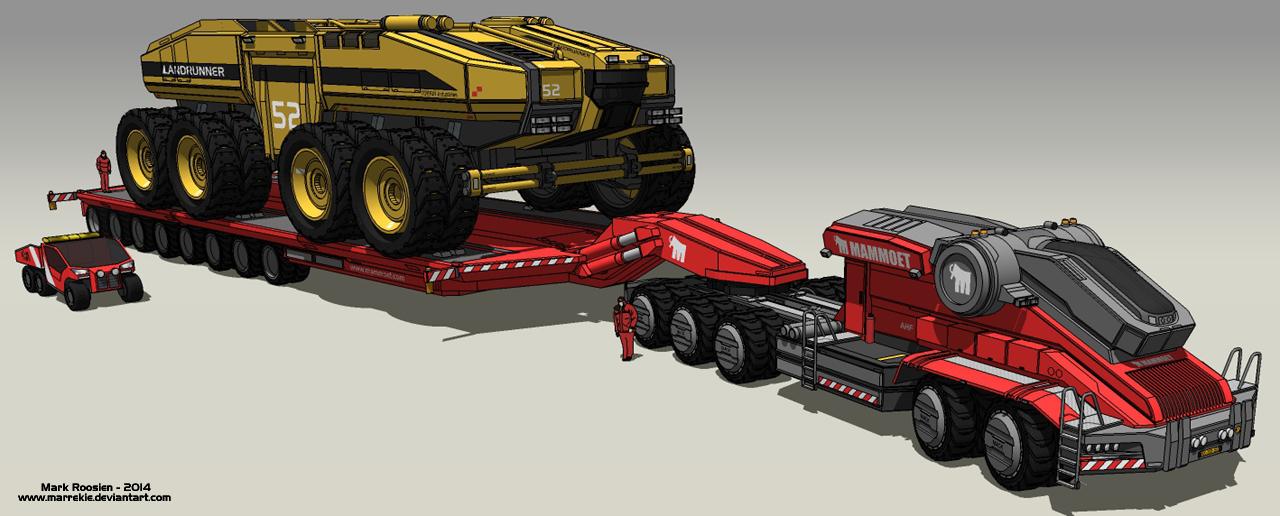 Mammoet heavy transport by Marrekie