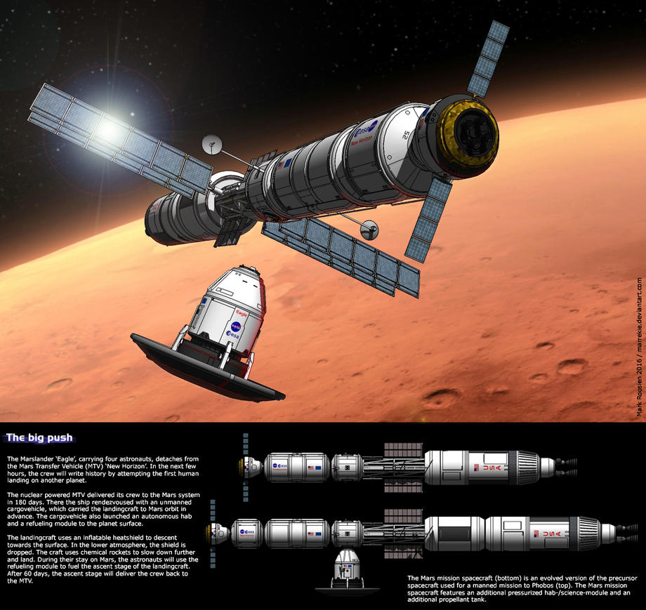 manned mission to mars 3d art - photo #21