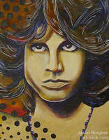 Jim Morrison ALIVE 11 x 14 Original Painting by art-hack
