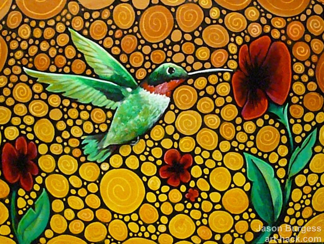 mosaic hummingbird BLINK OF AN EYE by J  Burgess by art-hack on