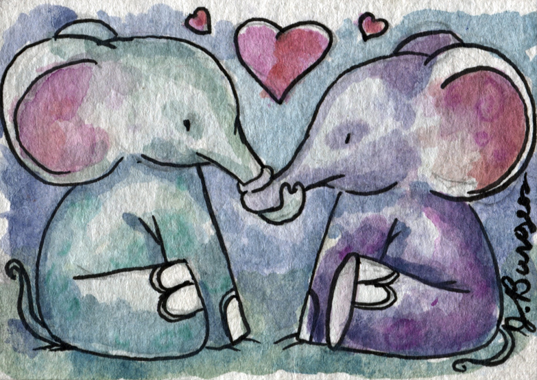 Elephant Love Art Elephant Love Miniature