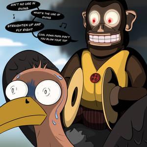 Falloutober Day 5: Monkey on a Buzzard.