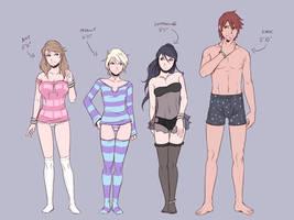 Concept Art - Height Comparison (Nightwear)