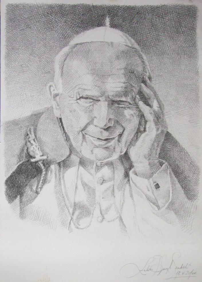 Portret Papieza Jana Pawla II by Brazowy