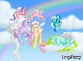 Flutter ponies by LazyJenny