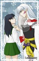 Sesshoumaru's frosty stare by LazyJenny