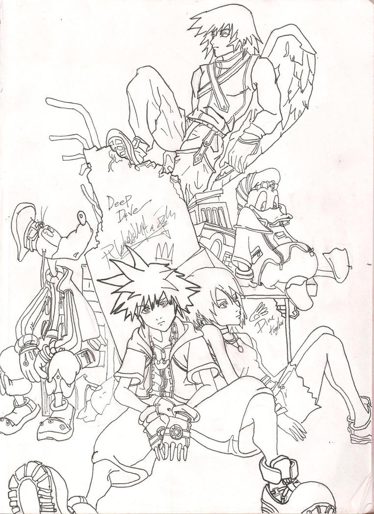 Kingdom hearts fan art by chibi lin on deviantart for Kingdom hearts printable coloring pages