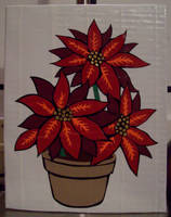Duct tape Poinsettias