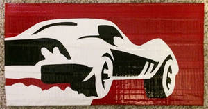 Corvette (duct tape) by TheDucttapeBassist