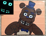 Glow in the dark Freddy Fazbear (duct tape) by TheDucttapeBassist