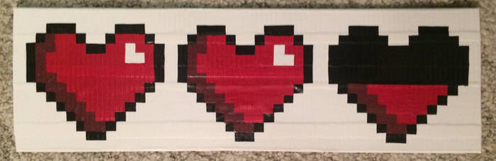 Pixel Life Hearts (duct tape)