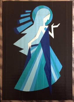 Blue Diamond mural (duct tape)