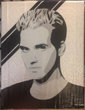 Mikey Way duct tape portrait