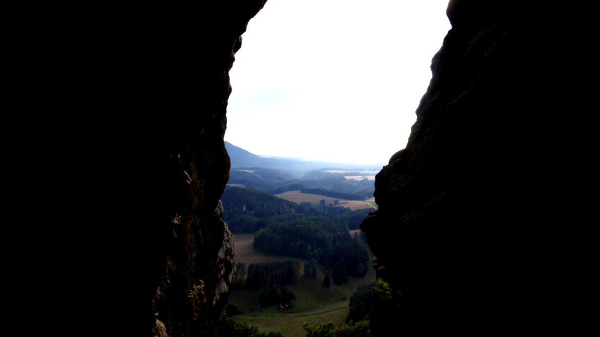 Window through the mountain by Solan7