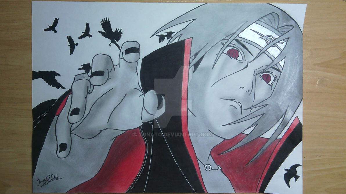 my drawings itachi uchiha by yonato
