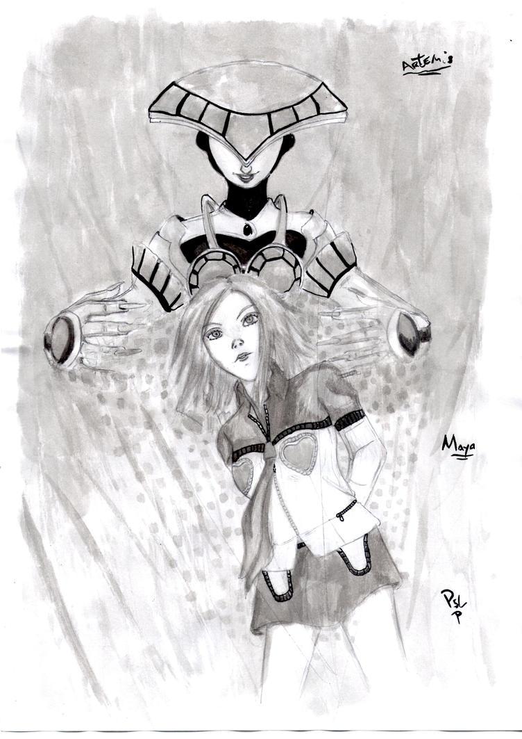 Persona 2 Maya Artemis (09-08-14) by seta4u