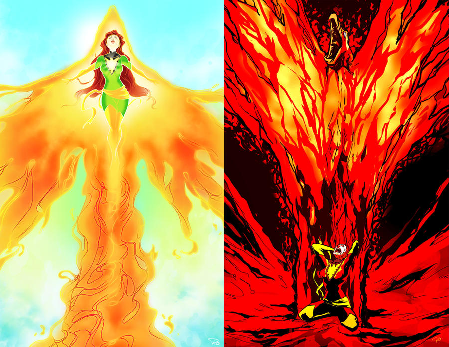Phoenix - Light VS Dark by rocom