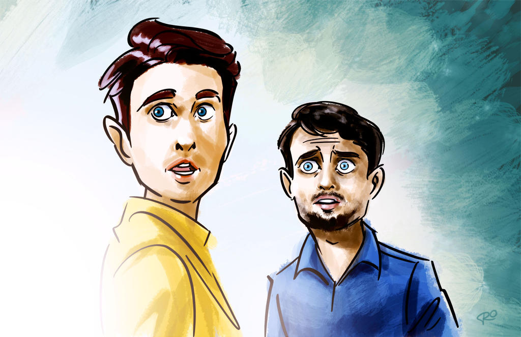 Dirk Gently and Todd Brotzman by RayOcampo