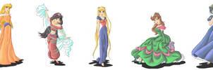 Sailor Princesses by Ebsie