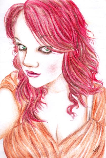 Self Portrait on Fire by Ebsie