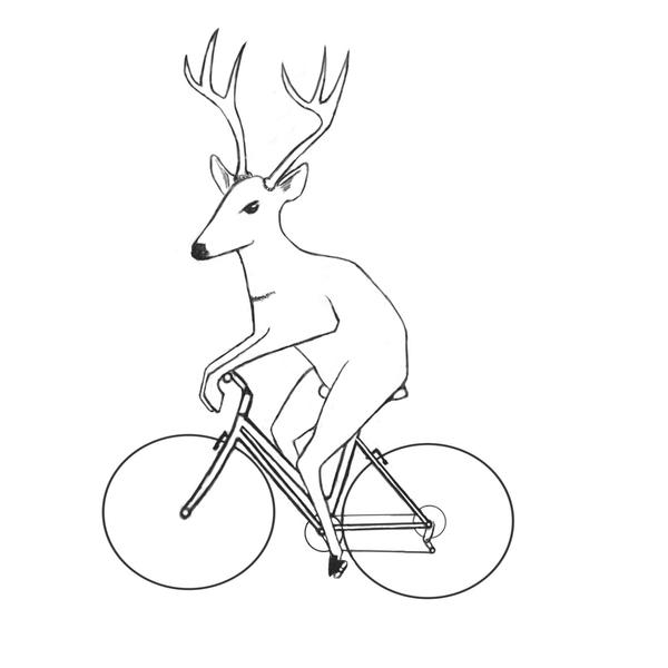 Deer cyclist by Chromat