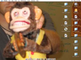 Scary Monkey Desktop by fablehill
