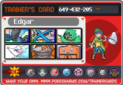 Edgar Trainer Card! by hurricanestormer