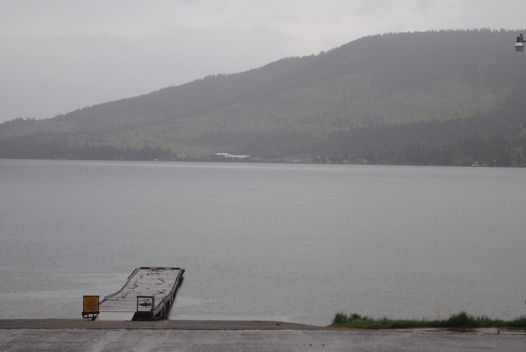 Rainy Day on Big Arm bay by hollywood1340