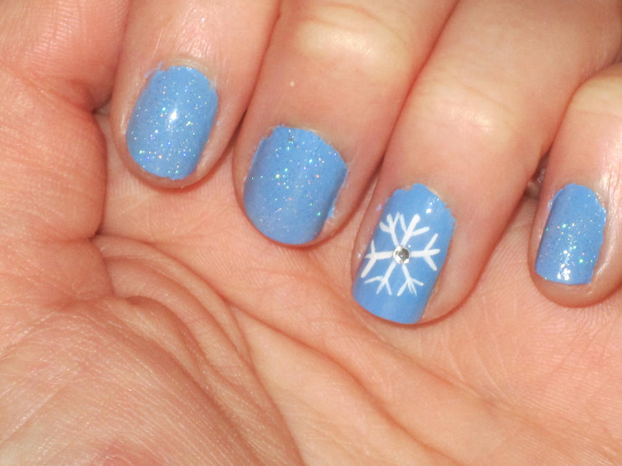 winter nails by yellow tulips on deviantart. Black Bedroom Furniture Sets. Home Design Ideas