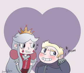 Young Queen and King Butterfly