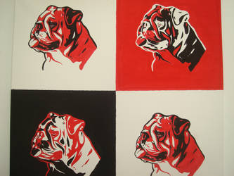 bulldog pop art by bevf2003