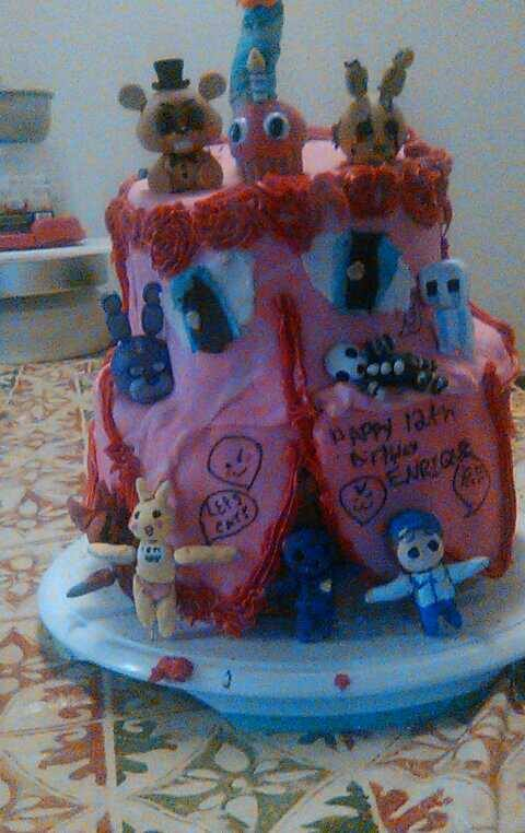 Fnaf birthday cake attempt by emonekomeli on DeviantArt