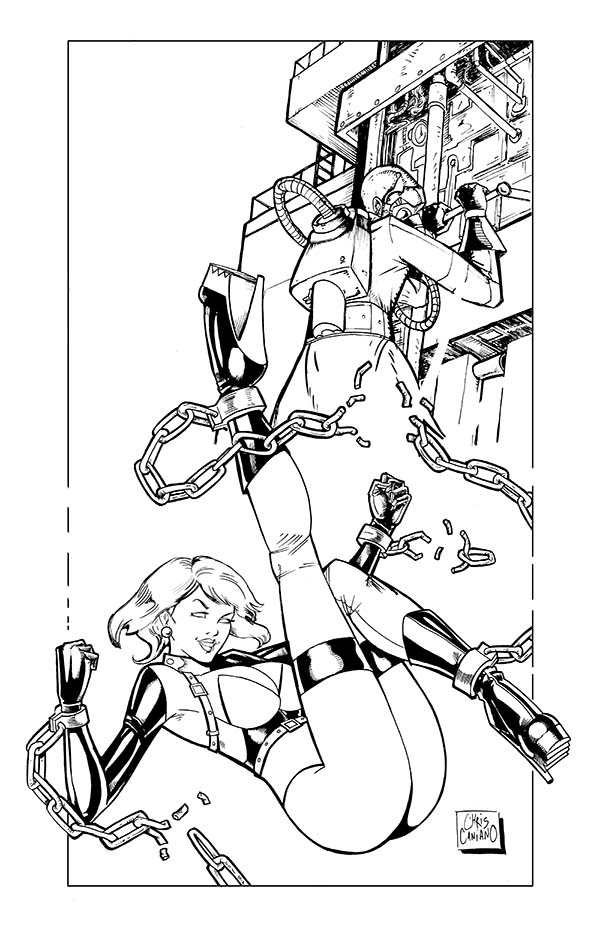 The Fembot Lab - Remastered line art by ChrisCansLab